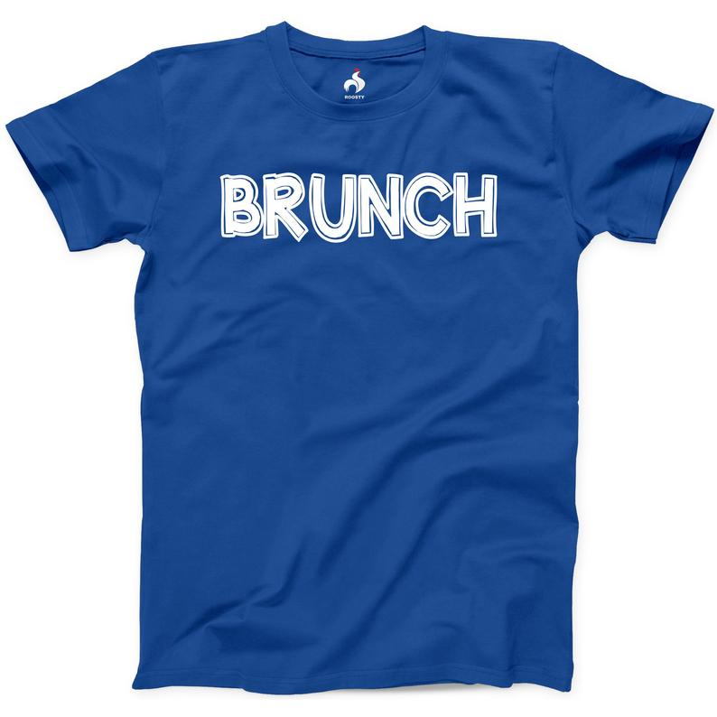 Brunch Tshirt 100% Cotton New Mens Funny Breakfast Date Idea image 0