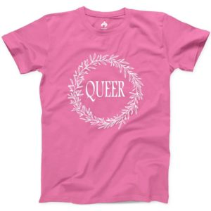 Queer Tshirt 100% Cotton NEW Mens Athletic Tee Gay Lesbian image 0