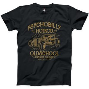 Psychobilly Hotrod Tshirt 100% Cotton NEW Mens Athletic Tee image 0