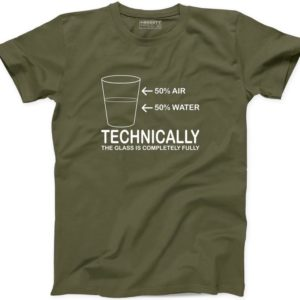 50% Water 50 percent Air Technically The Glass Is Completely image 0