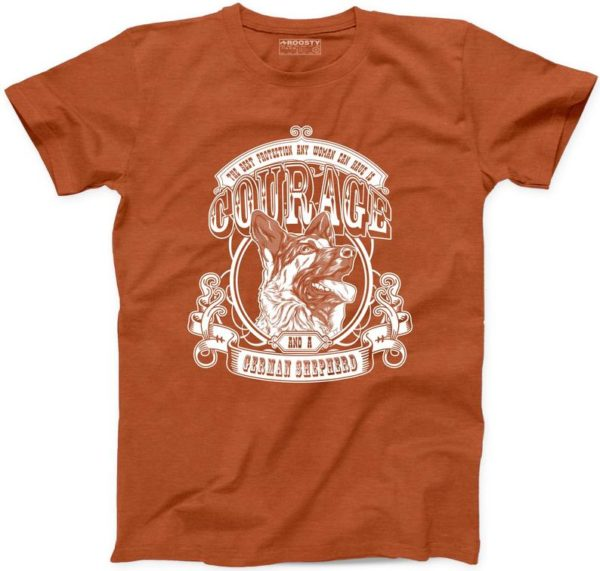 Courage And A German Shepherd Tshirt 100% Cotton New Mens Womens Tee S-3XL