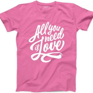All You Need is Love T Shirt Valentines Gift Motivational image 0