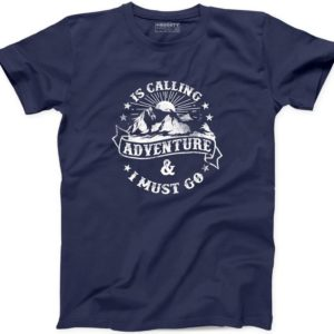 Adventure is Calling I Must Go T Shirt New Forest Camper Happy image 0