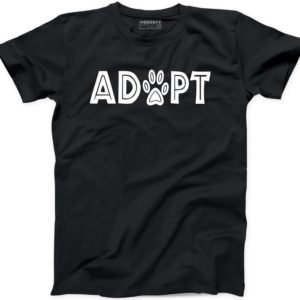 Adopt A Cat Dog T Shirt Rescue Animals Crazy Lady Dog Mom image 0