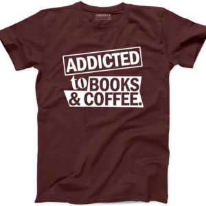 Addicted to Books and Coffee T Shirt New Funny Nerd Library image 0