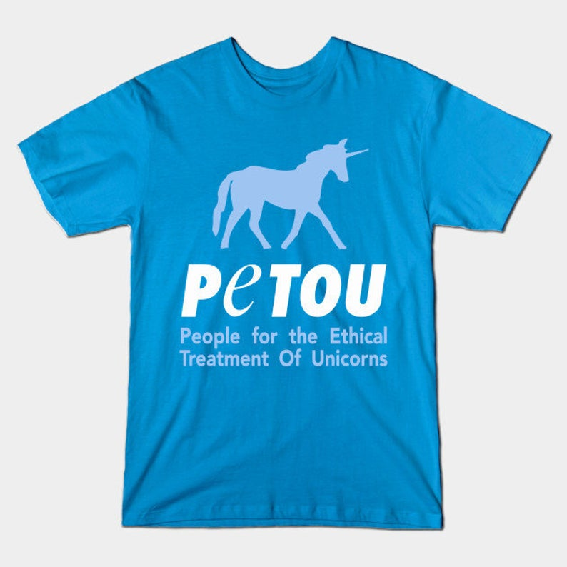 People for the Ethical Treatment of Unicorns T-Shirt  Petou image 0