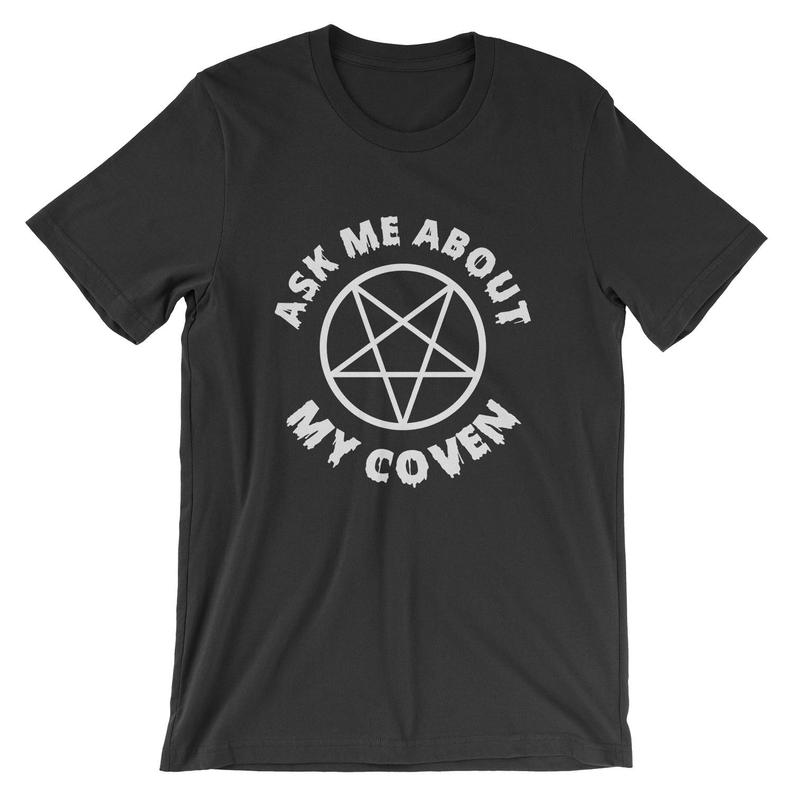 Ask Me About My Coven T-Shirt  Witchcraft Witches Halloween image 0