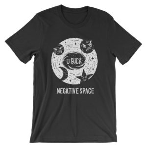 Negative Space T-Shirt  Funny Science Astrology Pun Shirt  image 0