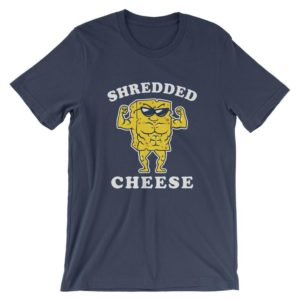 Shredded Cheese T-Shirt  Funny Gym Fitness Lifting Shirt  image 0