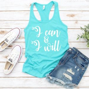 I Can & I Will Women's Racerback Workout Tank Top  image 0