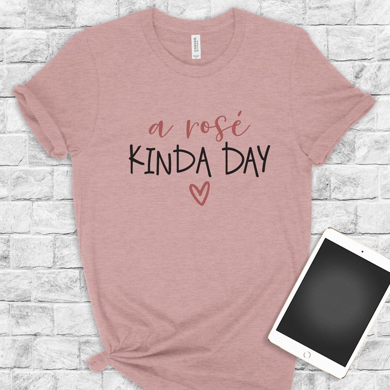 A Rosé Kinda Day Bella Canvas Tee Shirt image 0