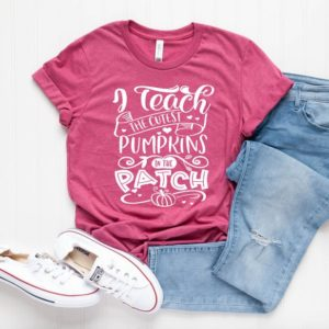 I Teach The Cutest Pumpkins In The Patch Unisex T-Shirt  image 0