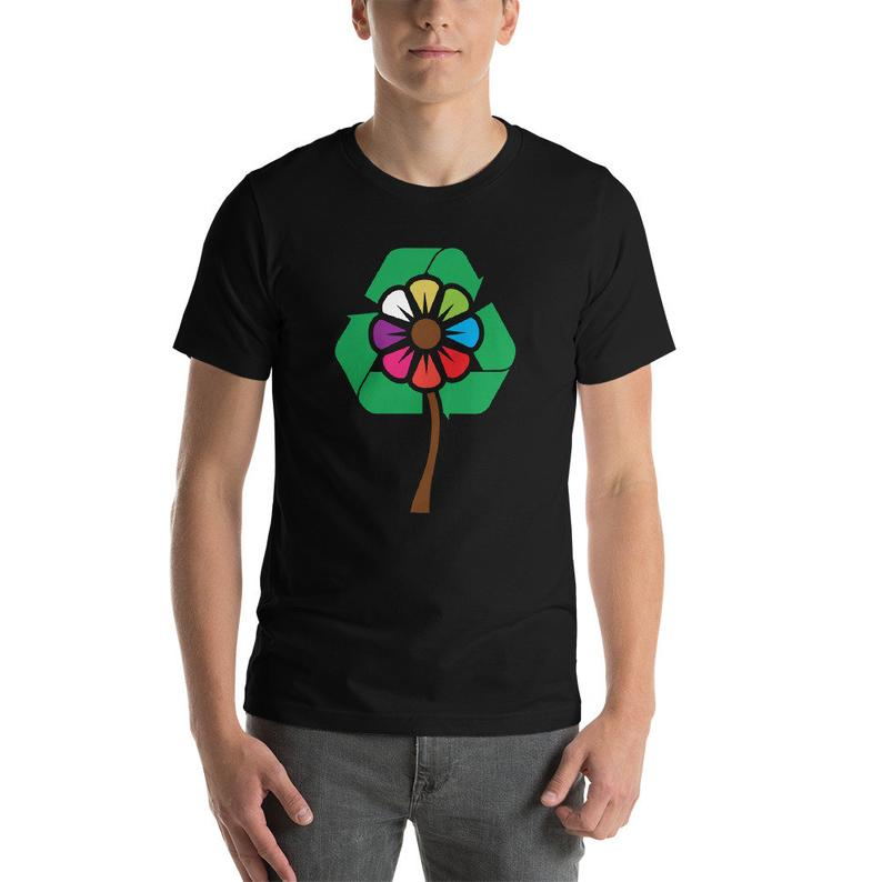 I Love Recycling – Earth Day Gift Short-Sleeve Unisex T-Shirt