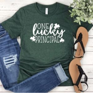 One Lucky Principal St. Patrick's Day Unisex T-shirt  image 0
