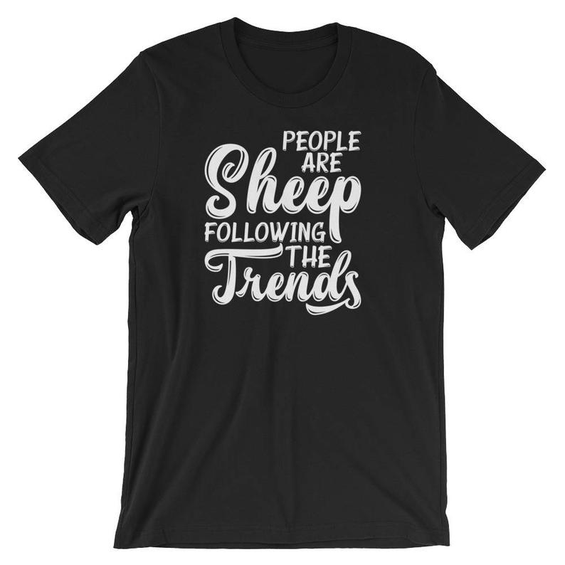 People Are Sheep Following The Trends Gift Short-Sleeve Unisex image 0