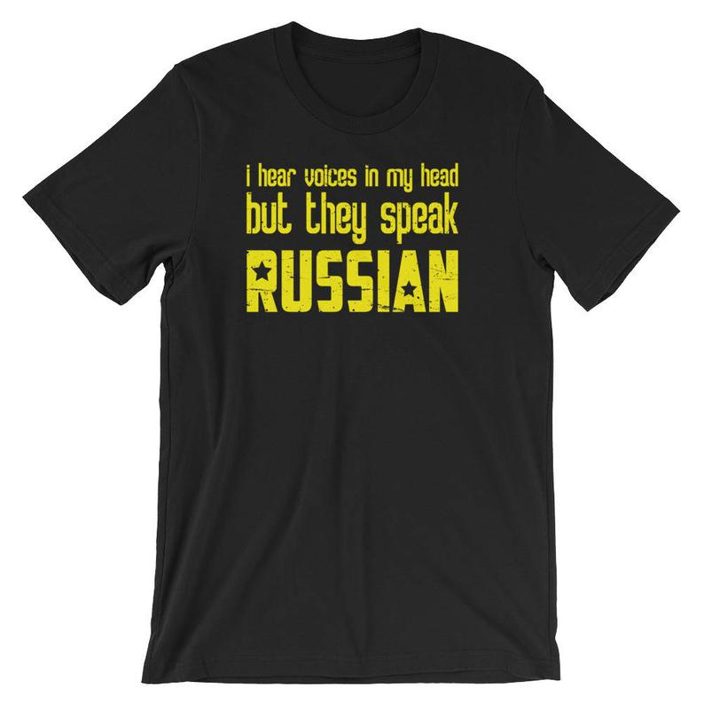 I Hear Voices In My Head But They Speak Russian Short-Sleeve image 0