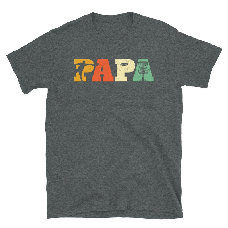 Papa Dad Grandpa Father Disc Golf T-Shirt, Disc Golfing, Frisbee Golf, Active, Fitness, Disc Golf, Hobby, Sport, Men and Boys, Cool Gift