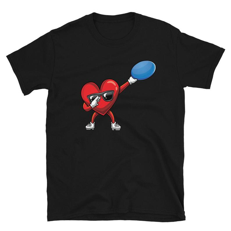 Dabbing Heart  Dab  Disc Golf Lover Cute Valentines Day Him image 0
