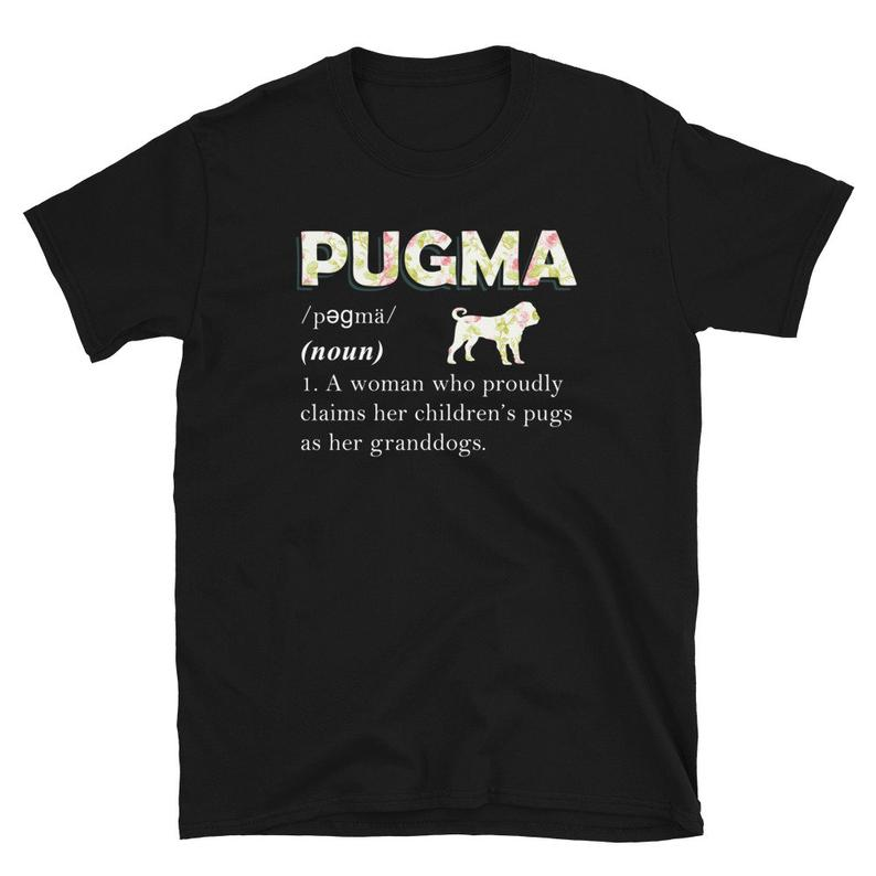 Cute & Funny Pug Grandma T Shirt Dogs Pugs Grandmother image 0