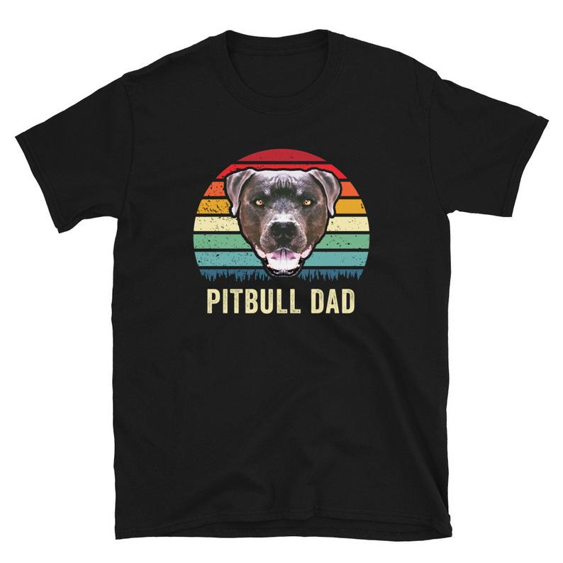 Cute Retro Pitbull Dog T Shirt  Cool Pit Bull Puppy Dogs image 0