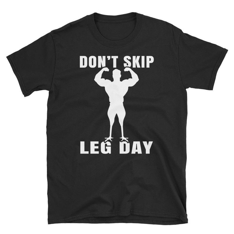 Don't Skip Leg Day Funny T-Shirt  Workout  Fitness image 0