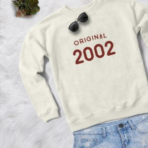 18th birthday sweatshirt womens girls jumper pullover Cream / red print