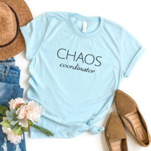 Chaos coordinator funny teacher shirts gifts for teacher Blue / black print
