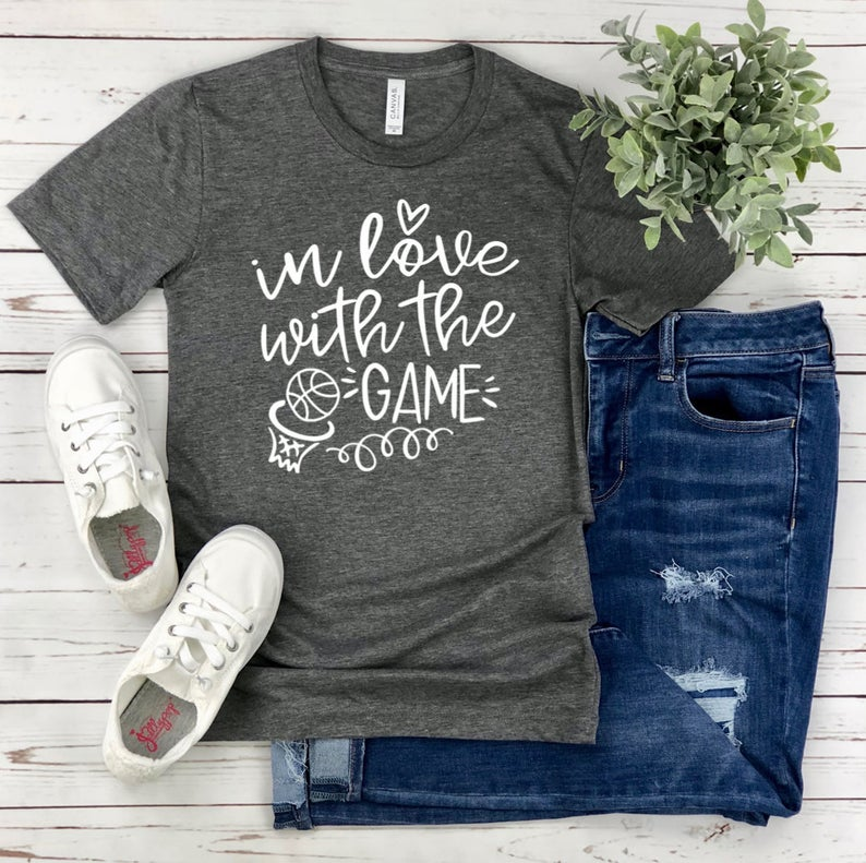 Basketball T-Shirt  In Love With The Game  Basketball Mom image 0