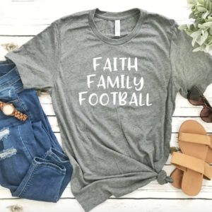 Adult Football T-Shirt  Faith Family Football  Football image 0