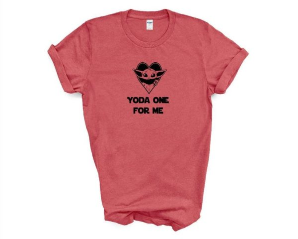Valentine's Day tshirt. Y*da One for Me. Unisex. Adult and kids sizes.  More colors available. Baby Y*da tshirt