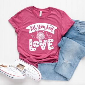 All You Knit Is Love Unisex T-shirt  Knitting Shirt  Grandma image 0