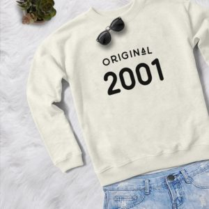 19th birthday shirt womens pullover sweatshirts womens Cream / black print