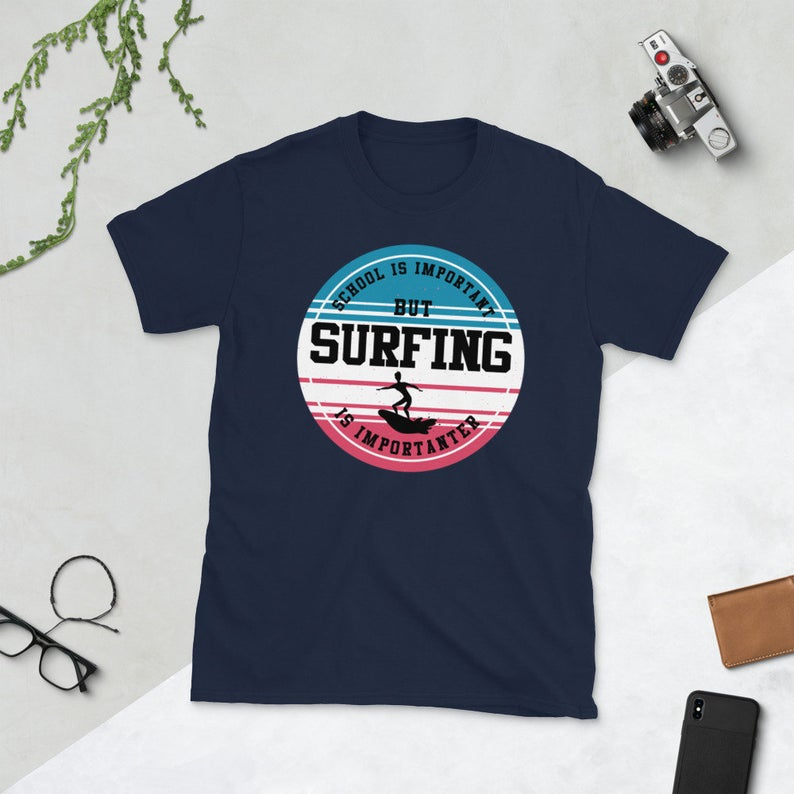 Surfing Shirt Funny Sports Ocean Lover Surfer School is image 0
