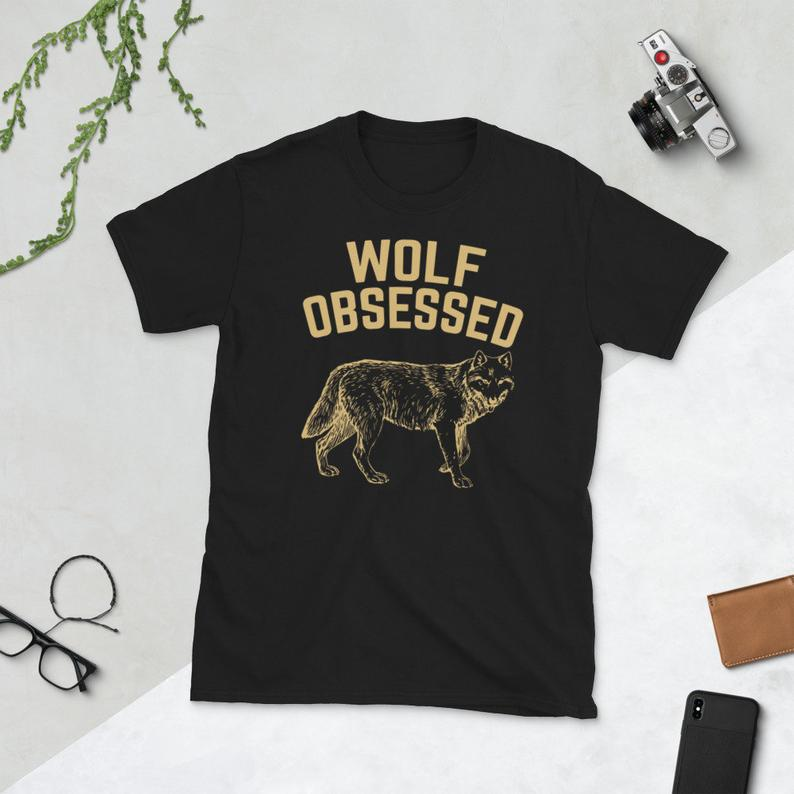 Wolf Lover Wolves Howling Alpha Wolf Obsessed Short-Sleeve image 0