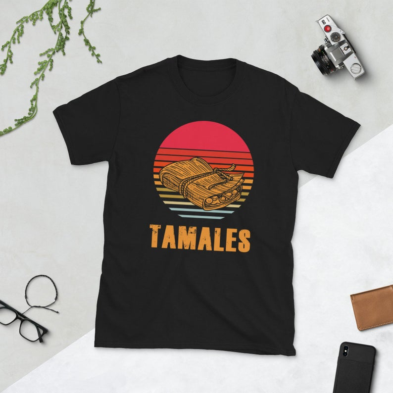 Mexican Food Latin Culture Funny Taco Lover Tamales Retro image 0