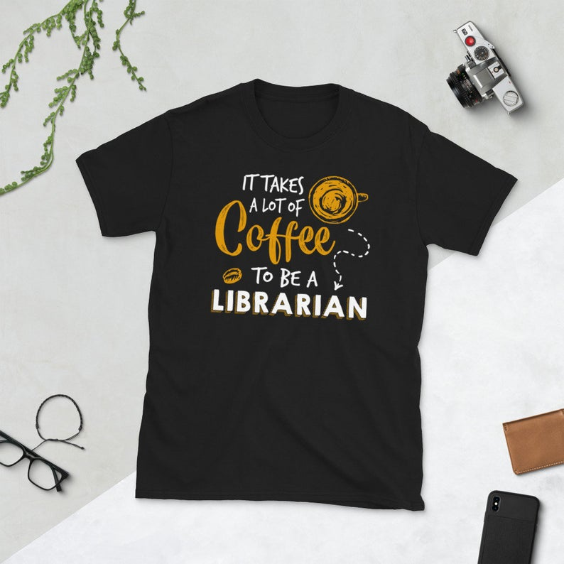 Coffee Lover Library Book Lover Bookworm Gift It Takes a Lot image 0