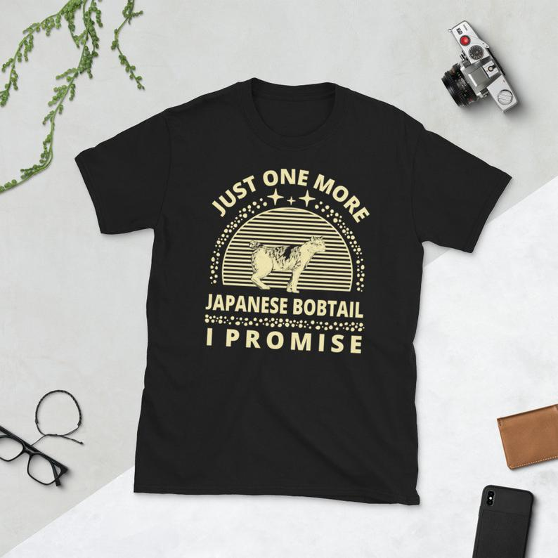 Cat Shirt Cat Owner Kitty Cats Lover Just One More Japanese image 0