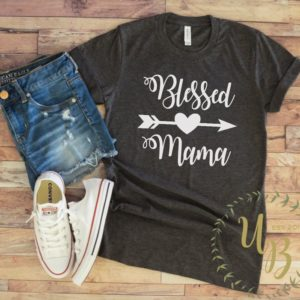Blessed Mama T-shirt  Blessed Mom T-shirts  Blessed Shirts  image 0