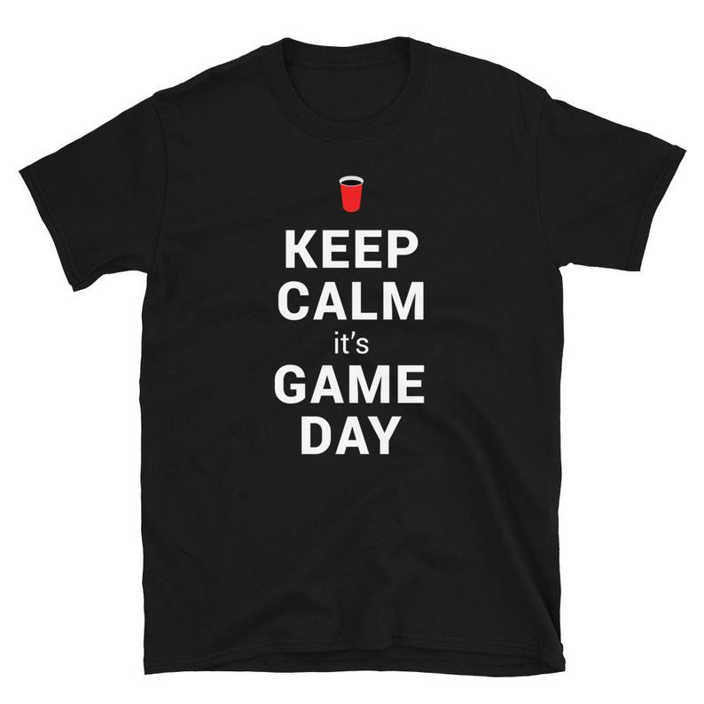 Game Day Shirt Keep Calm It's Game Day College Football image 0