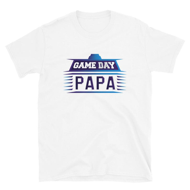 Game Day Shirt Game Day Papa College Football Sports Drinking image 0