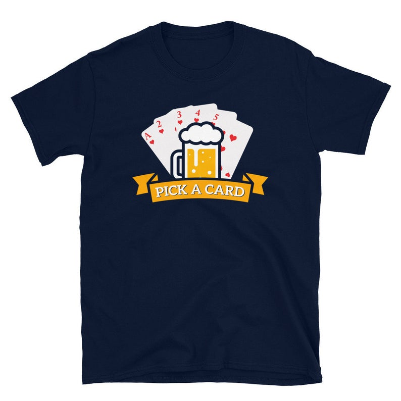 Beer Pong Shirt Kings Cup Pick A Card Drinking Games College image 0