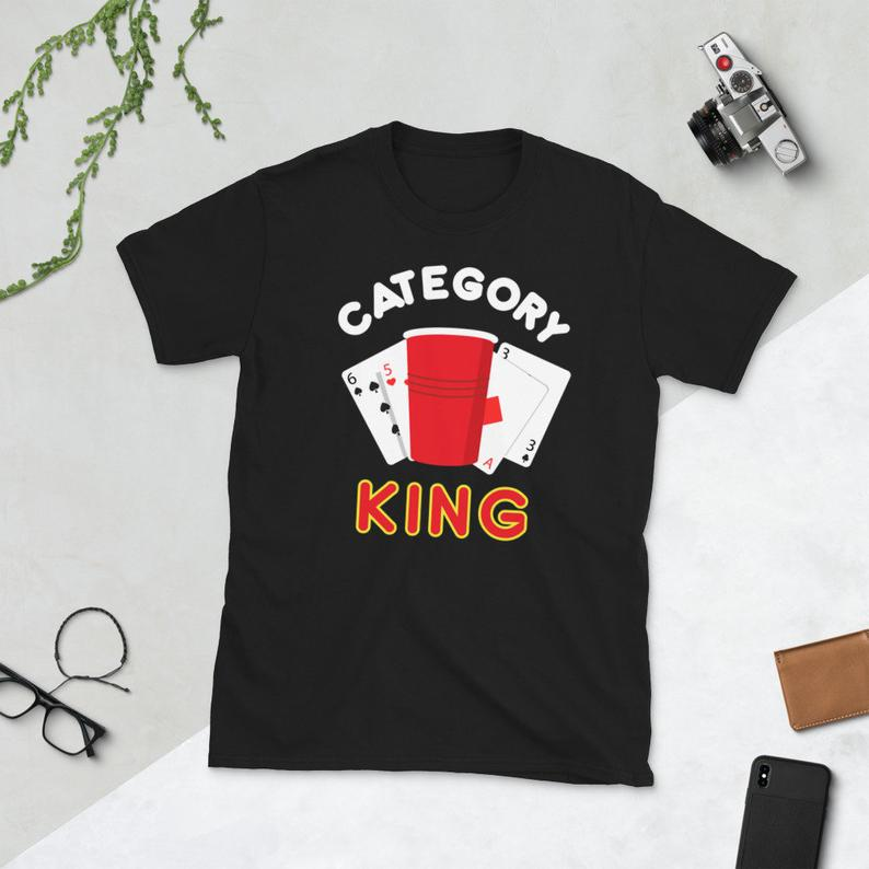 Beer Pong Shirt King's Cup Category King Drinking Games image 0